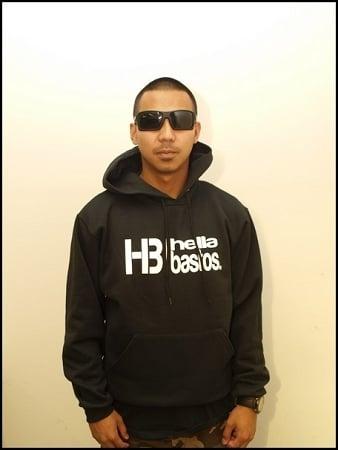 "Image of Hella Bastos ""HB LOGO"" Hoodie- BLACK"