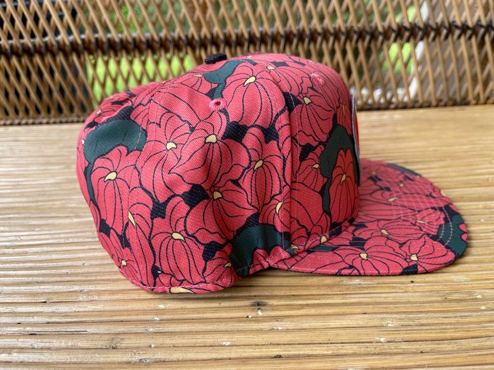 Red Anthurium Hat