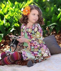 Image of Peace & Flowers Reversible Swing Jacket