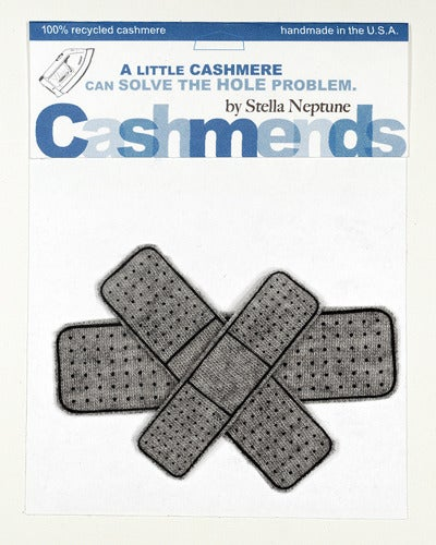 Image of Iron-on Cashmere Band-Aids - Medium Gray