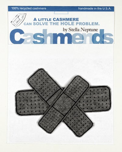 Image of Iron-on Cashmere Band-Aids - Dark Grey