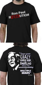 Image of Crazy Uncle Ron Black T-Shirt
