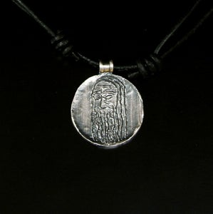 Image of Ægishjalmr medallion in silver