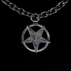 Image of Baphomet pentagram in silver