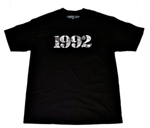 "Image of ""92 RIOT"" Tee in Black"