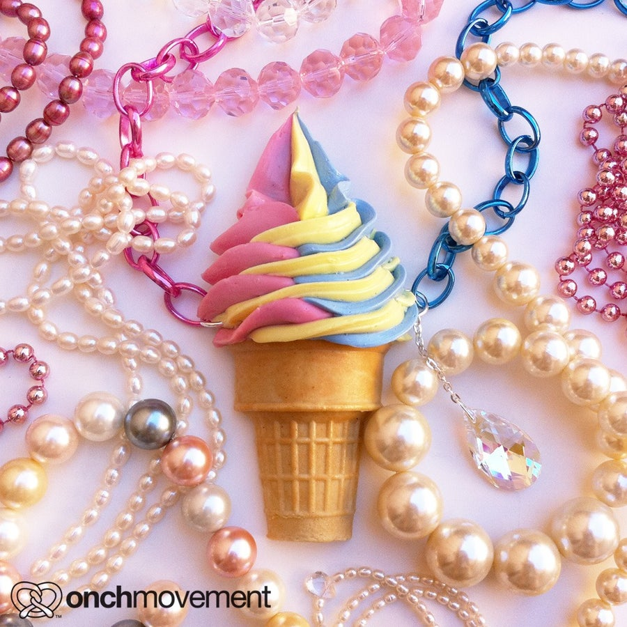 Image of Rainbow Swirl Cone