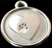 Image of Silver Paw Dog ID Tag in the category  on Uncommon Paws.
