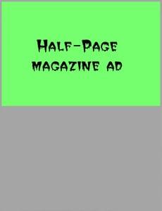 Image of Half Page Gore Noir Ad