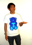 Image of Gary Gummy Bear Tee White/Blue Color