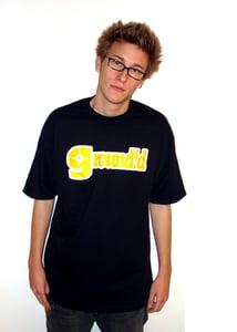 Image of Groundid Logo Tee Black/Yellow Color
