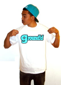 Image of Groundid Logo Tee White/Tiffany Color