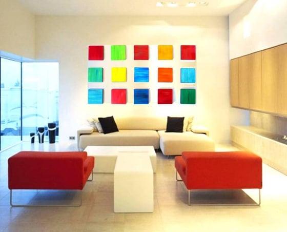 Original Abstract Wood Wall Art / Rosemary Pierce Modern Art