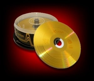 Image of 25 CD-R 700Mo 80Min 52x vinyle OR Xlayer
