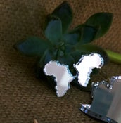 Image of Africa Petite Studs ...in silver mirror acrylic