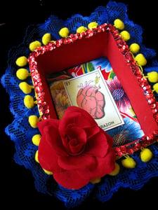 Image of Mexican inspired nicho. El Corazon. OOAK Dia De Los Muertos