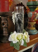 Image of Besame - Kissing Couple surrounded by white velvet roses - OFF BEAT BRIDE