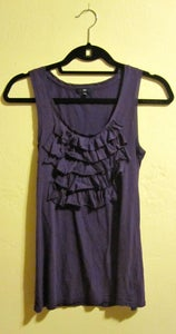 Image of Gap Purple Ruffle Tank