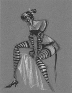 Image of Syka Sitting Striped