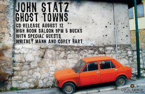 "Image of ""Ghost Towns"" CD Release Show Posters"