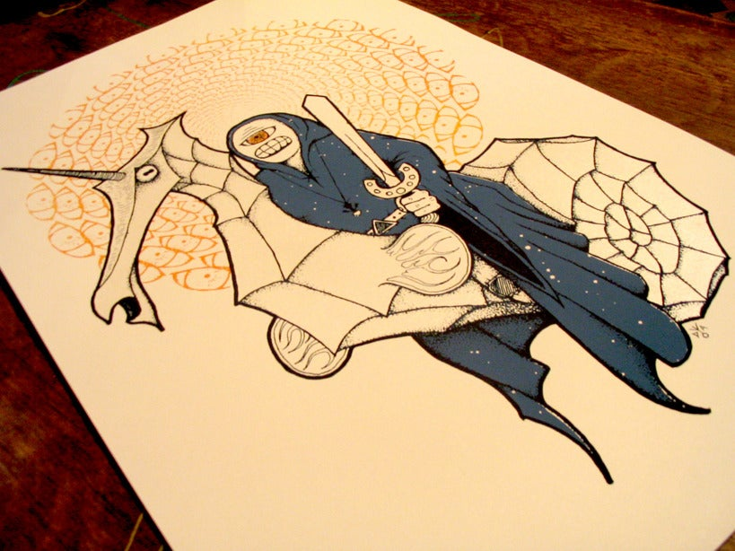 Image of Cyclops Wizard (screen printed poster)