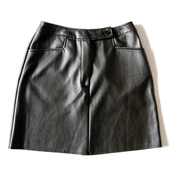 Image of Faux Leather High-Waisted Skirt