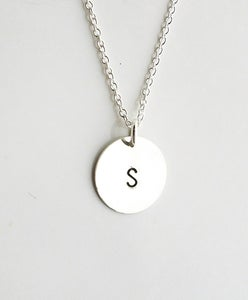 Image of Sterling Silver Custom Initial Charm Necklace