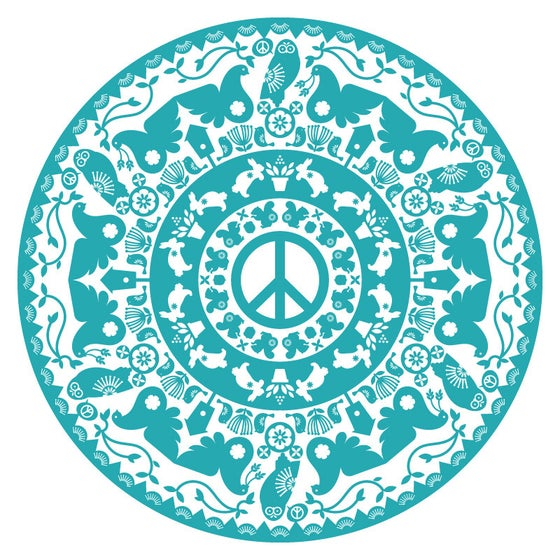 Image of Peace Radial Tea Towel