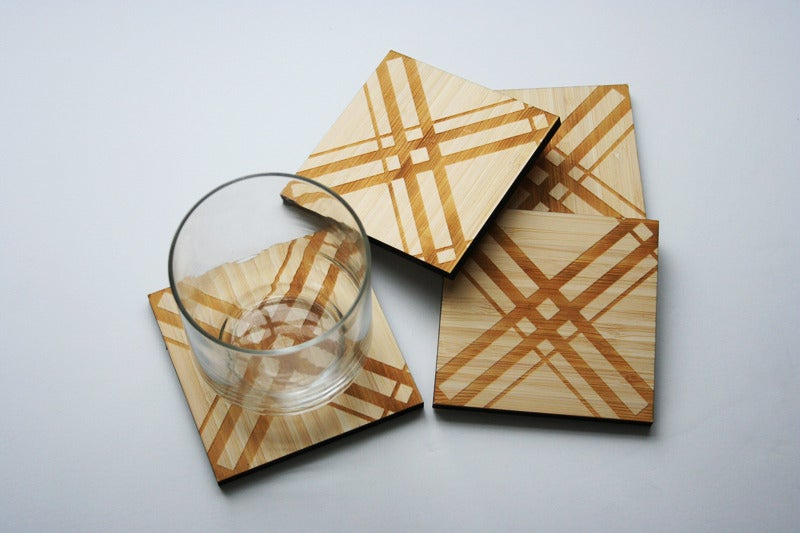 Image of Classic Textile Coasters: Tartain/Plaid