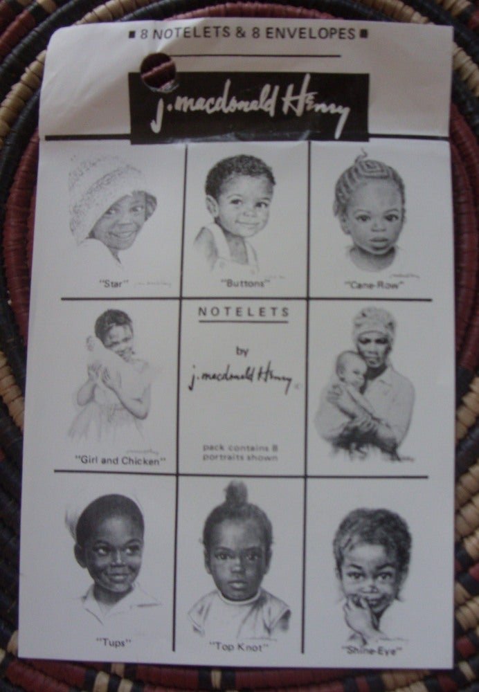 "Image of ""Faces of Jamaica"" By J.Macdonald Henry Card & Envelope Set"