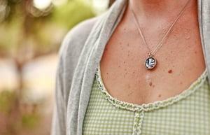 Image of Blue Leaf Necklace