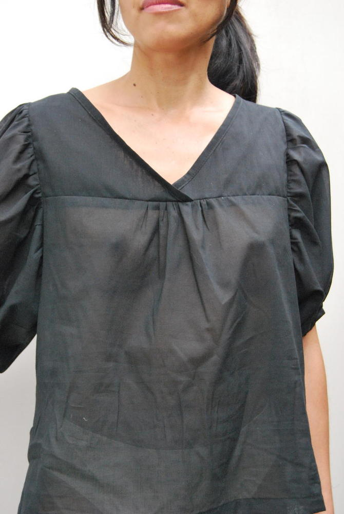 Image of organic cotton voile top