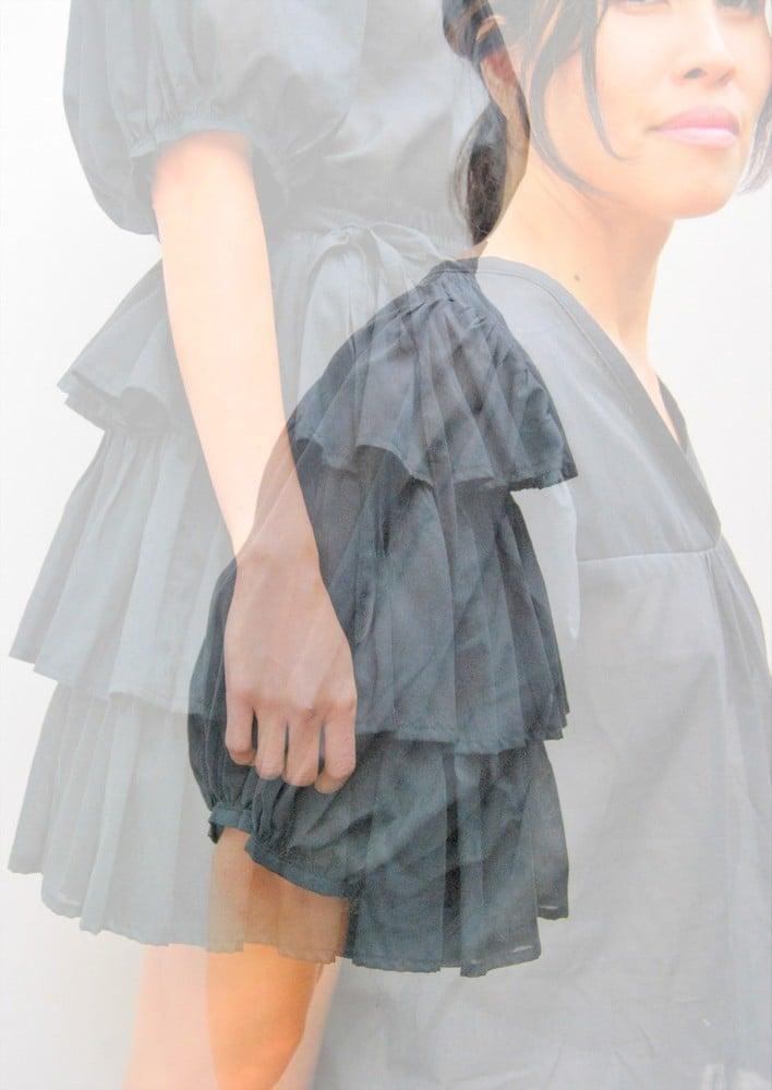 Image of organic cotton 'ruffle' skirt
