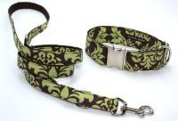 Green Damask Leash