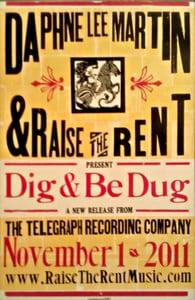 Image of Hatch Show Poster celebrating 'Dig & Be Dug' Release
