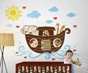 Noahs Ark Wall Decal Decor Sticker DD1061 Childrens Kids Nursery Bedroom