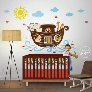 Image of Noahs Ark Wall Decal Decor Sticker DD1061 Childrens Kids Nursery Bedroom