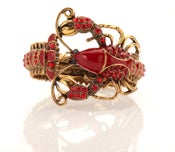 Image of Get your crustacea on! Excuistly detailed Enamal and crystal bracelet