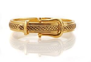 Image of Classy golden buckle bracelet