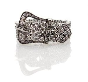 Image of Elegante! Deco Swarovski crystal stretch belt bracelet