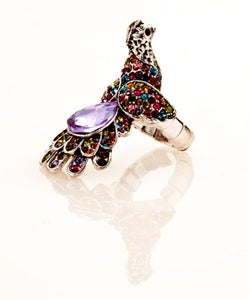Image of Pride of Peacock ~ Swarovski Crystal ring