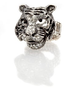 Image of Tiger, tiger burning bright - Swarovski crystal ring