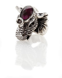 Image of Elephant Swarovski crown ring - in 2 colors