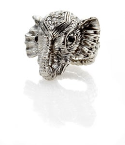 Image of Elephant ring with Swarovski Crystals headpiece