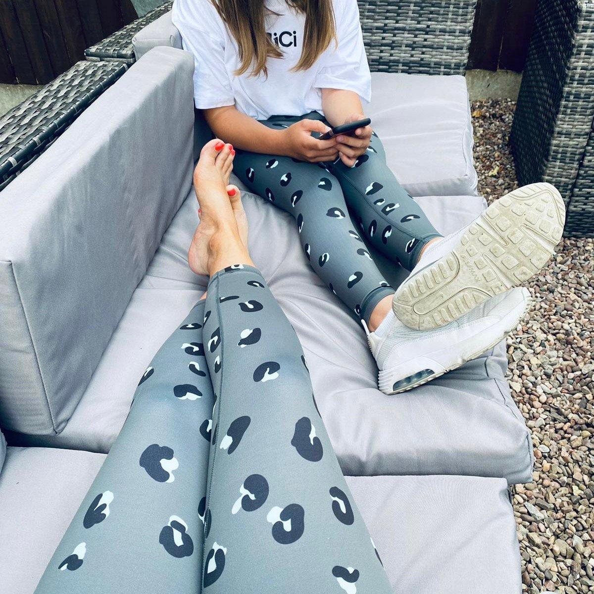 Kids - Leopard Grey Leggings
