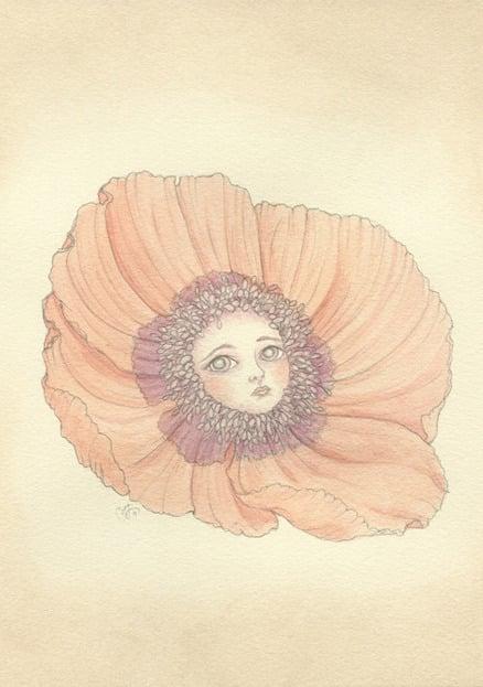 Image of Poppy mini print