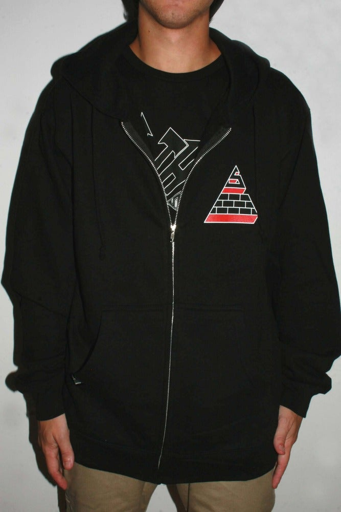 Image of Blood Sweat Smoke Hoodie Black/Static Grey