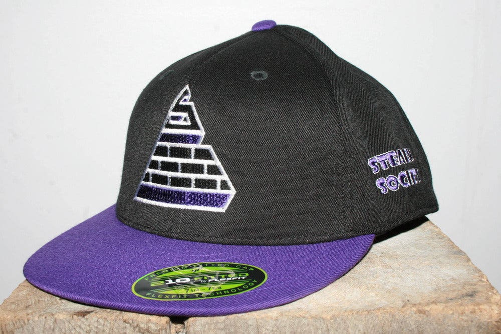 Image of Logo Fitted BLK/PUR