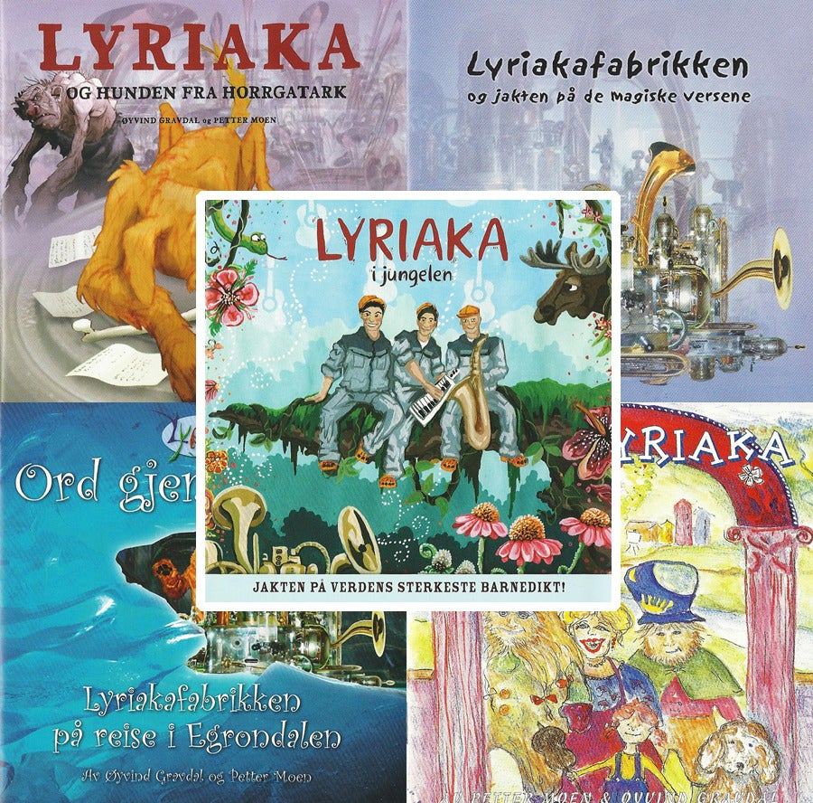Image of 6 Lyriaka-CDer + bok