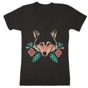 Image of V-Neck Wolf - Unisex XS
