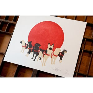 Image of Search Dogs - Japan - Letterpress Print